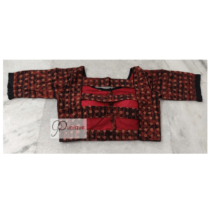 Brown Yellow Ajrak Blouse With Back Open Back