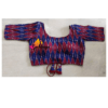 Blue Red Itkat Back Bow Lace 2