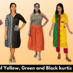 Collections Of Yellow, Green And Black Kurti And Dress