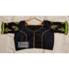 black yellow green hand embroidery blouse with frills