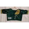 green cotton silk with kagoj full 3d embroidery blouse1