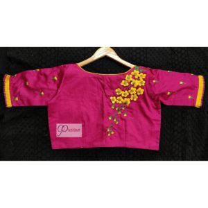 rani cotton silk with 3d embroidery blouse1