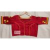 red cotton silk with kagoj full 3d embroidery blouse1