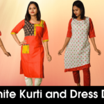 Latest Red White Kurti And Dress Designs For Women And Girls