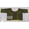 green ajrak with yellow piping