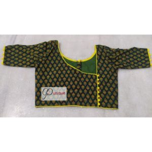 green ajrak with yellow piping1
