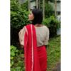 off white hakoba with croche lace with puff sleves1