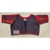 grey red jamdani with red frill blouse1