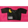 black hakoba with hand embroidery with lace blouse