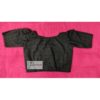 black hakoba with hand embroidery with lace blouse 3