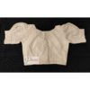 off white hakoba with hand embroidery with crochet lace blouse 2