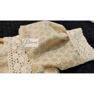 tussar hakoba with crocheted lace blouse3