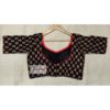 black ajrak with red piping blouse1